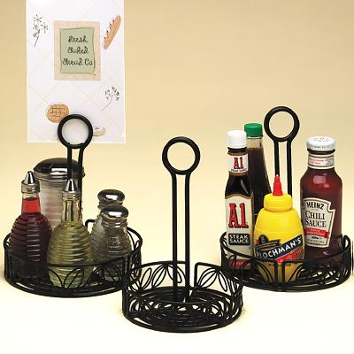 American Metalcraft LDCC Condiment Caddy Rack Leaf Design - Table top caddies for restaurants