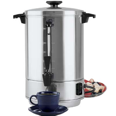 Coffee Maker With Percolator : Regal Ware K7003 (58055R) - Coffee Urn Percolator - 12 To 55 Cup - Coffee Makers - ZESCO.com