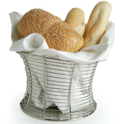 Wire Bread Basket | Front Of The House Tbb009bss22 Mini Round Wire Tower Bread Baskets