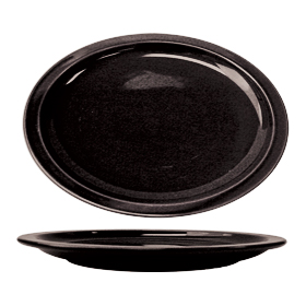 Cancun Narrow Rim Platter, Black