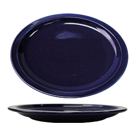 Cancun Narrow Rim Platter, Cobalt Blue