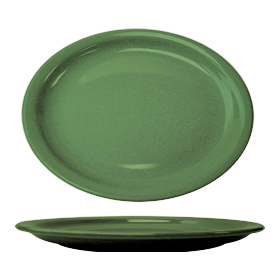 Cancun Narrow Rim Platter, Green