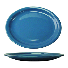 Cancun Narrow Rim Platter, Light Blue