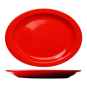 Cancun Narrow Rim Platter, Crimson