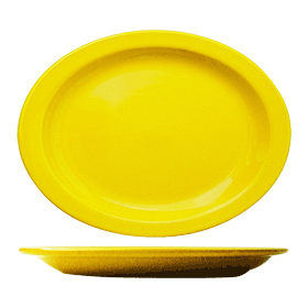Cancun Narrow Rim Platter, Yellow