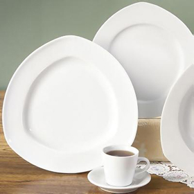 C&town Soup Plate and Plate & CAC China CPT-16 - 10-1/2