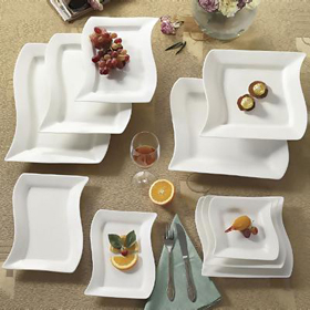 ... Square Plates · Miami Hot Wave Bone White China & CAC China MIA-21 - 12
