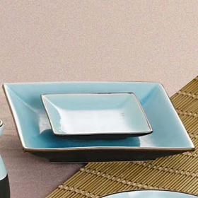 Black Square Plate · Lake Water Blue Square Plate ... & CAC China 666-8 - 9