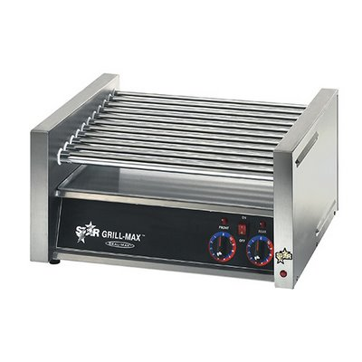 30 Dog Capacity Roller Grill, Chrome Rollers