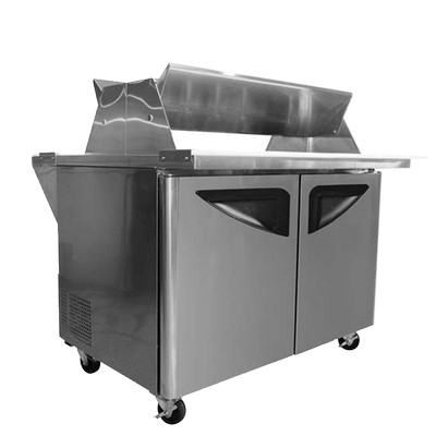 Turbo air tst 48sd 18 ds sandwich prep table double for Table th width not working