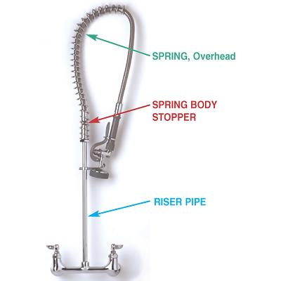 Commercial Sink Sprayer Parts : Pre Rinse Faucet Parts - Cleandus.com