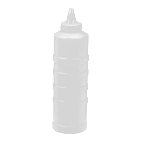 Winco PSW-32 6 Pack of 32oz Clear Wide Mouth Squeeze Bottles
