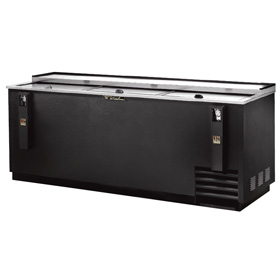 "True 80.50"" Bottle Cooler, Black"