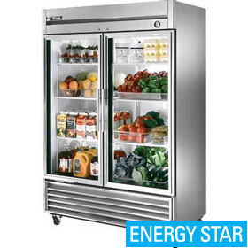 True t 49g refrigerator reach in two glass doors bottom mount true t 49g two door refrigerator planetlyrics Choice Image