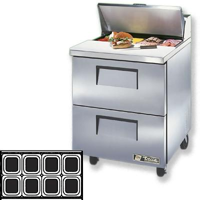 True TSSU-27-8D-2 Sandwich Prep Table