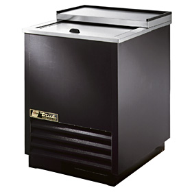 "24-3/4"" Wide Glass Chiller, Black"