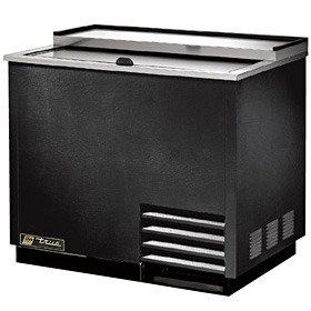 "36-3/4"" Wide Glass Chiller, Black"