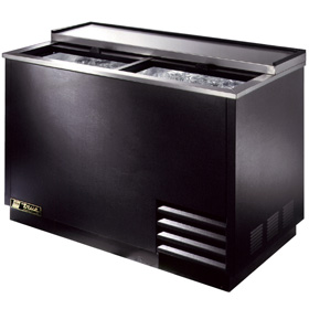 "50"" Wide Glass Chiller, Black"
