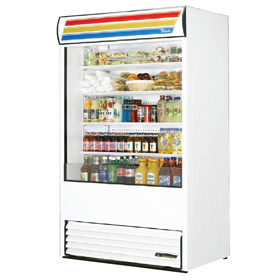 True TAC-48 Air Curtain Merchandiser