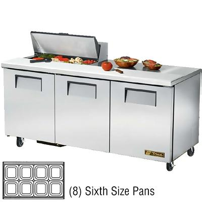 True tssu 72 8 sandwich prep table three door 72 3 8 for Table th width not working
