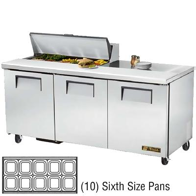 True TSSU-72-10 Sandwich Prep Table