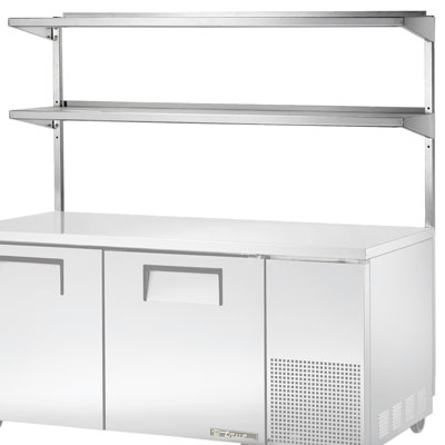 Adjustable Double Overshelf