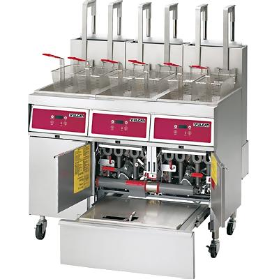 Vulcan 3TR45DF - Gas Fryer System - Three Fryers with Oil Filtration ...
