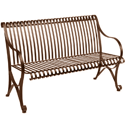 Patio Bench on Patio Bench   Iron   50  Wide X 33  Tall   Waymar Industries   Rb 830