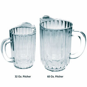 32 and 60 Oz. Polycarbonate Pitchers