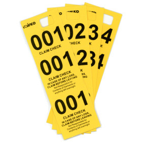 coat check tickets numbered tags table top service zesco com