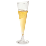 Rosseto L50300 - Liteware Clear Plastic Champagne Glass - 4oz