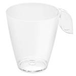 Rosseto L50600 - Liteware Clear Plastic Leaf Coffee Cup - 8oz