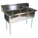 BK BKS-3-1620-12 - Three Compartment Sink