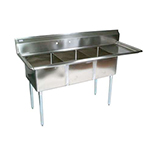 BK BKS-3-18-12-18R - Three Compartment Sink