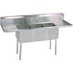 BK BKS-3-18-12-18T - Three Compartment Sink