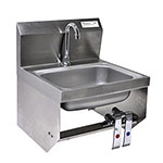 BK BKHSD1410-1-BKK-P-G - Hand Sink with Knee Valve Faucet Package