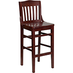 Flash W0006BAR-MAH-GG - Wooden Restaurant Bar Stool