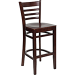 Flash W0005BARLAD-MAH-GG - Wooden Restaurant Bar Stool