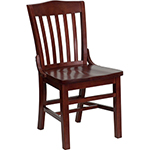 Flash W0006-MAH-GG - Wooden Restaurant Dining Chair
