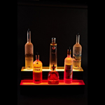 Armana 3'/2 TIER LED SHELF - 2 Tier Lighted Liquor Display - 3' L