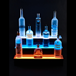Armana 3'/3 TIER LED SHELF - 3 Tier LED Lighted Liquor Display - 3' L