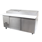 Zesco PZ-2D - 2 Door Refrigerated Pizza Prep Table