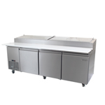 Zesco PZ-3D - 3 Door Refrigerated Pizza Prep Table
