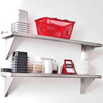 "Advance Tabco WS-12-108 - 108""W x 12""D Stainless Steel Wall Shelf"