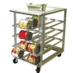 Advance Tabco CR10-72 - Commercial Can Storage Racks