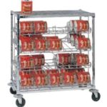 AMCO SM2-MB - Mobile #10 Can Rack - Two Shelves - 60 Can Capacity