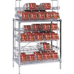 AMCO SM3-B - #10 Can Rack - Three Shelves - 90 Can Capacity