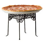 American Metalcraft PSS77 - Pizza Tray Stands - Black Square Scroll