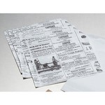 "American Metalcraft PPRN76 - Preformed 7"" x 6"" Newspaper Wax Paper"