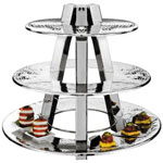 American Metalcraft TTS2319 - Three Tier Ascent Display Stand